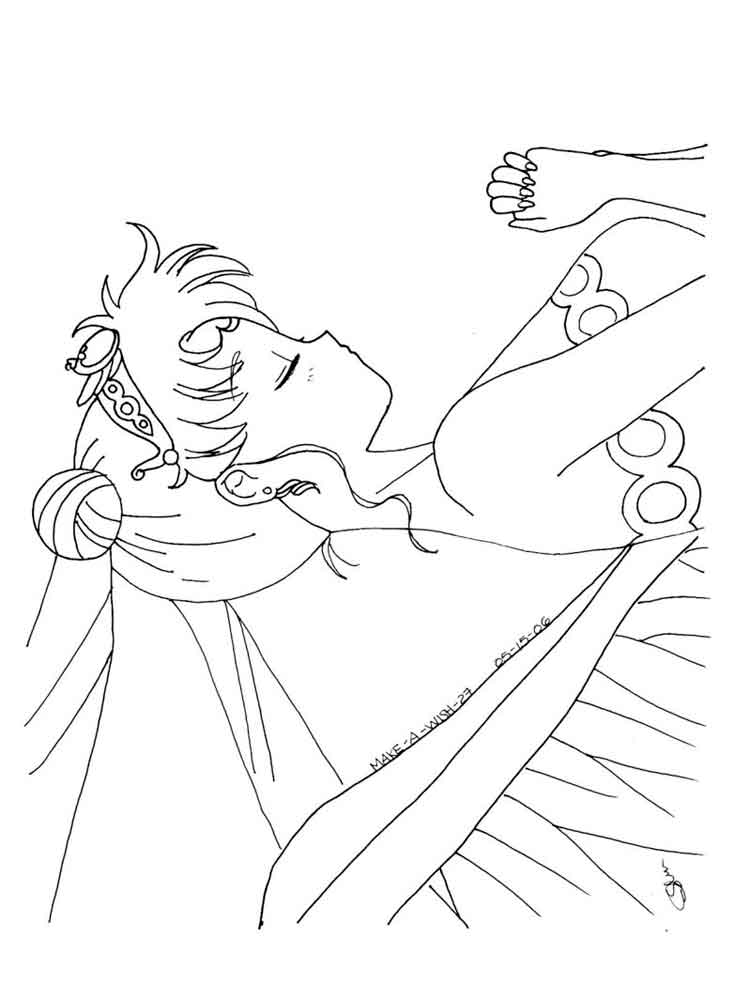 princess serenity coloring pages 2