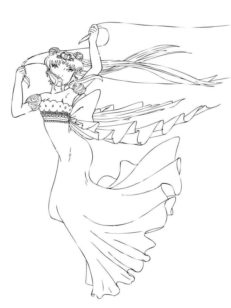 princess serenity coloring pages 6