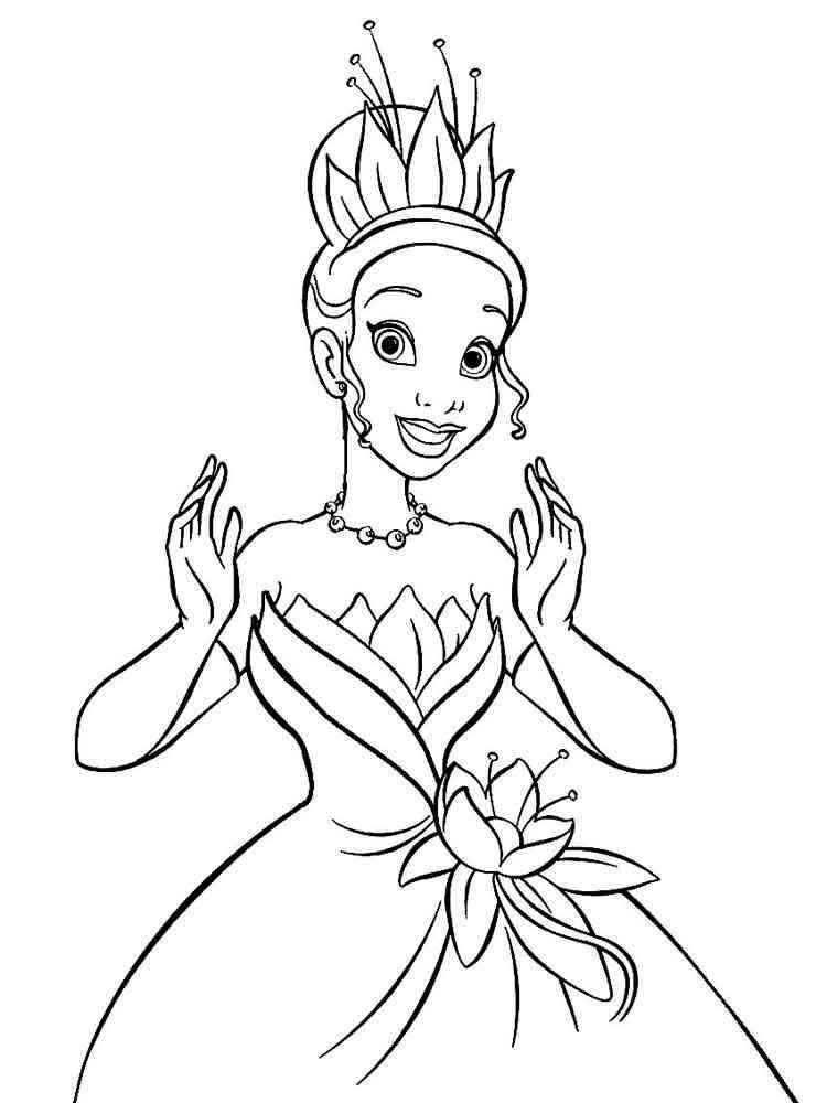 Princess Tiana coloring pages. Free Printable Princess ...