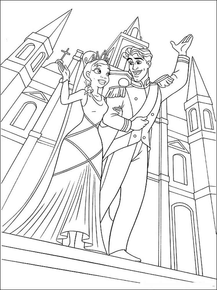 Princess Tiana coloring pages. Free Printable Princess ...