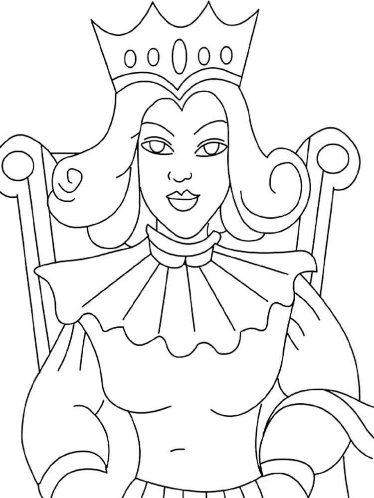 Queen coloring pages Free Printable