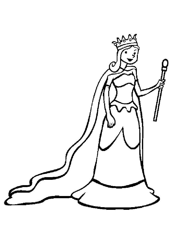 Queen coloring pages. Free Printable Queen coloring pages.