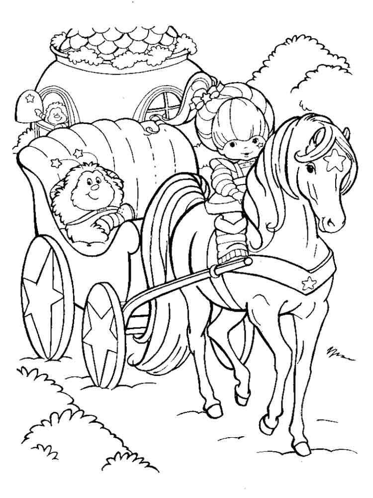 Rainbow Brite Coloring Pages Free Printable Rainbow Brite Coloring