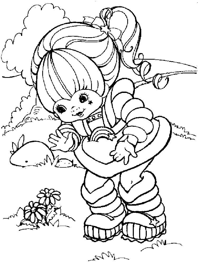 Rainbow Brite coloring pages Free