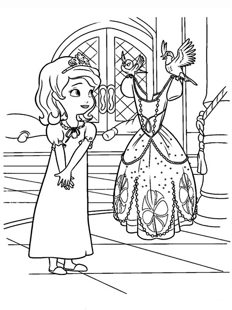 Sofia the first coloring pages free printable sofia the for Sophie the first coloring pages
