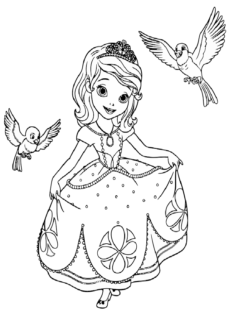 Sofia The First Coloring Pages Free Printable Sofia The First