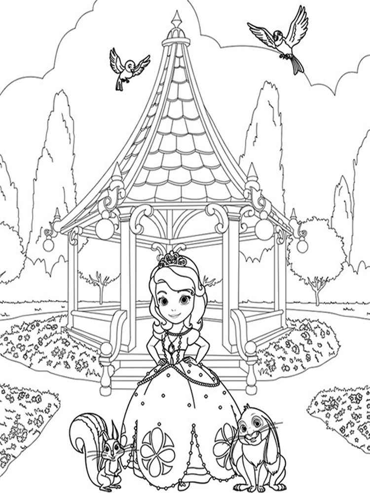 sofia the first coloring pages 7