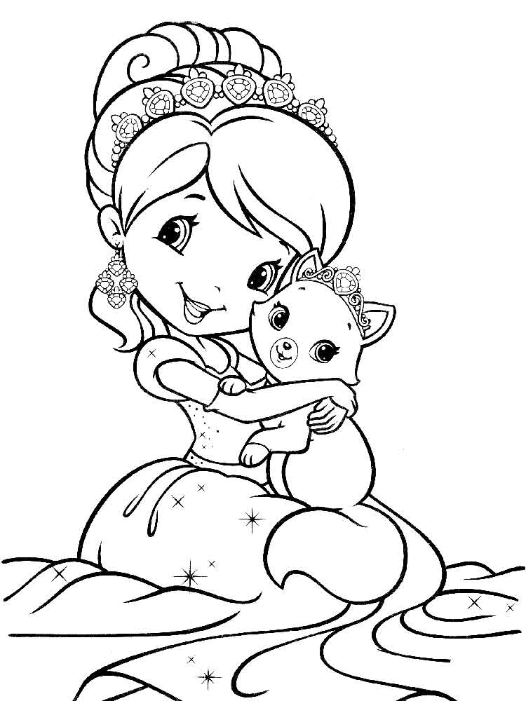 Strawberry shortcake berrykins coloring pages free for Strawberry shortcake christmas coloring pages