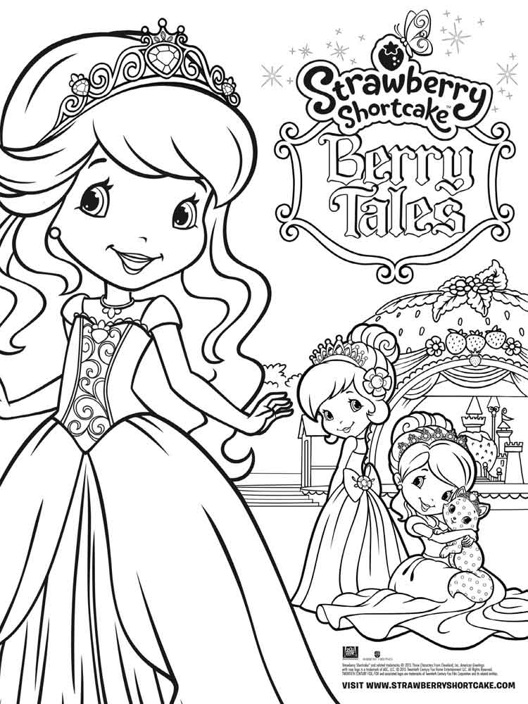 Strawberry Shortcake Berrykins coloring pages Free
