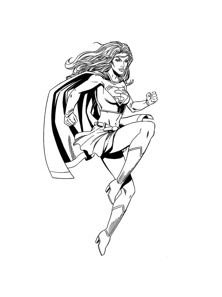 Supergirl coloring pages Free