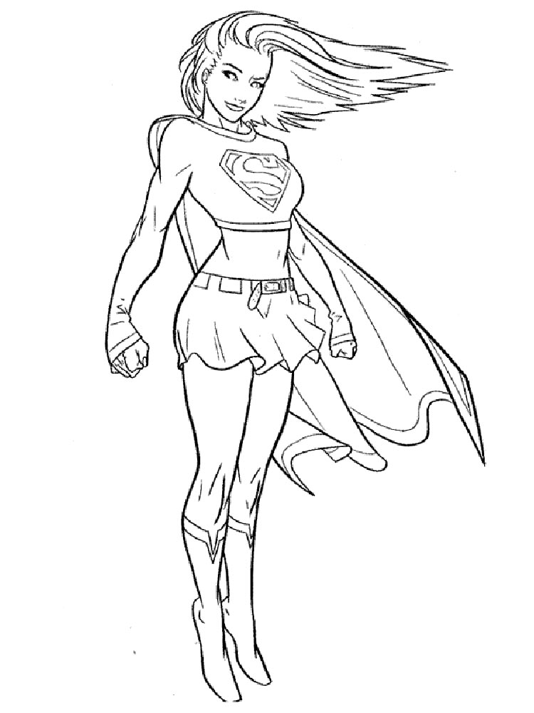 Supergirl coloring pages Free Printable Supergirl