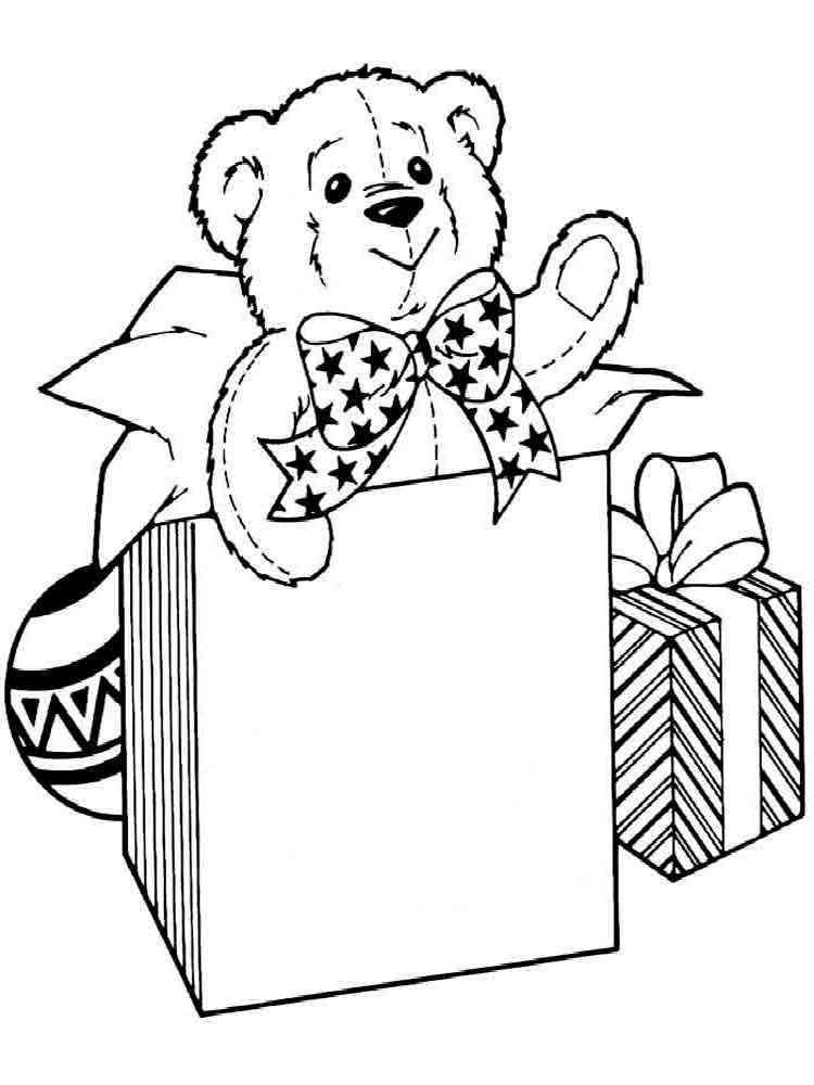 Раскраски девочка с подарком 612