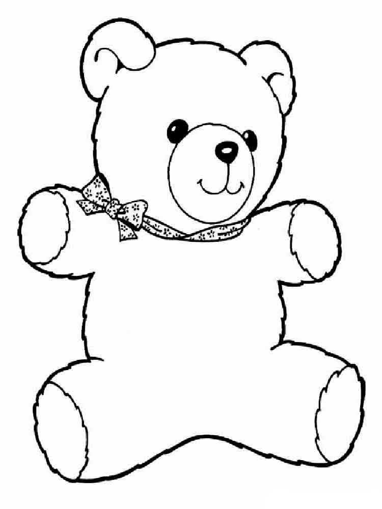 Teddy bears coloring pages download and print teddy bears for Teddy coloring pages