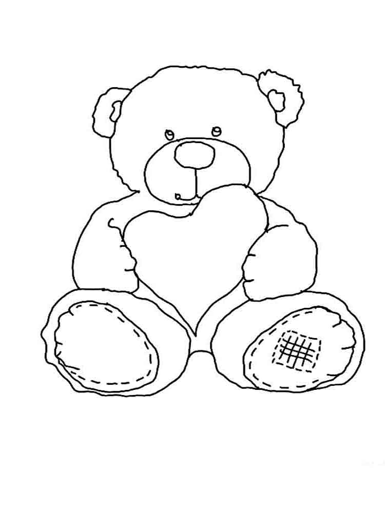 Teddy bears coloring pages. Download and print Teddy bears ...