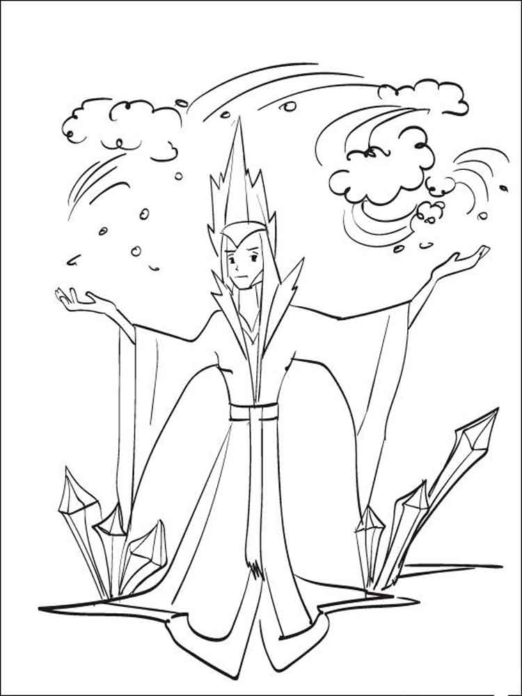 The Snow Queen Coloring Pages Free Printable The Snow