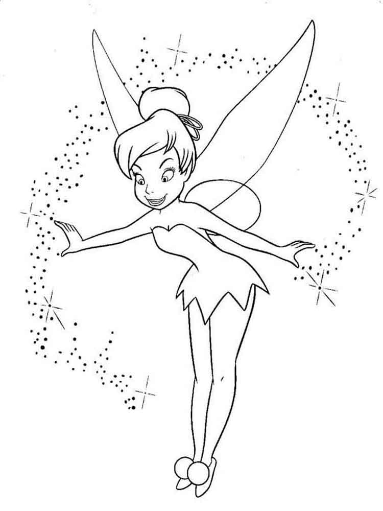 Tinkerbell Coloring Pages Download And Print Tinkerbell