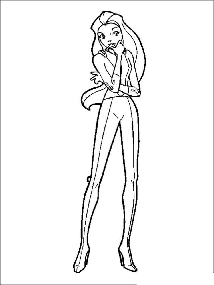 free totally spies coloring pages - photo#15