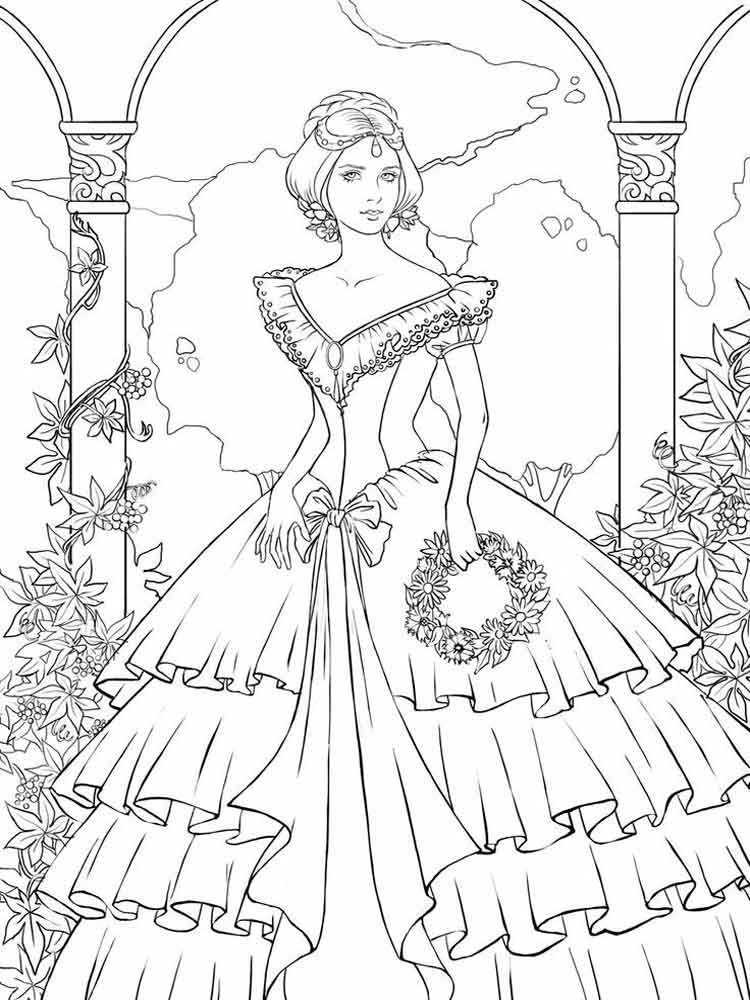 Victorian Coloring Pages Victorian Woman Coloring Pagesfree Printable Victorian Woman .