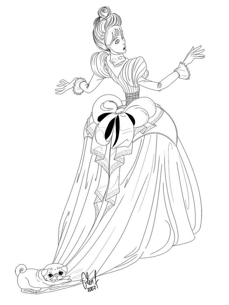 Victorian Woman coloring pages. Free Printable Victorian ...