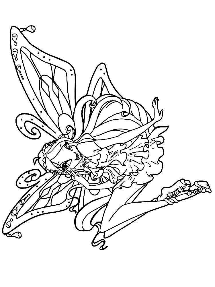 Bloom winx coloring pages download and print bloom winx for Bloom winx coloring pages