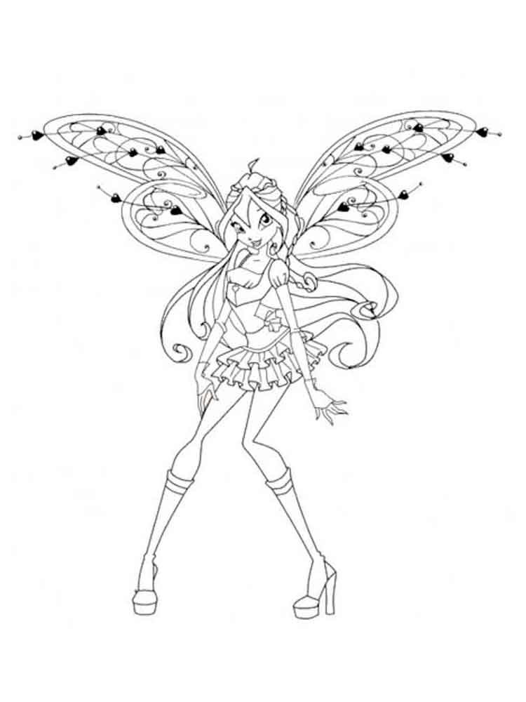 Bloom Winx coloring pages Download