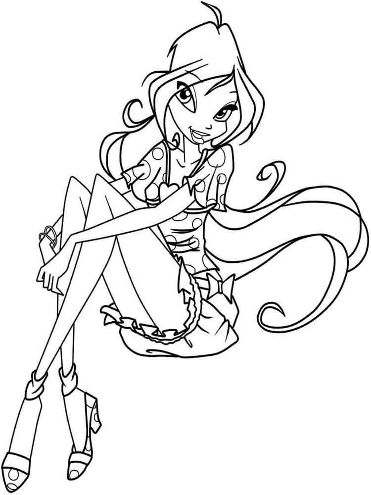 4 Seasons Colouring Sheets : Bloom winx coloring pages. download and print