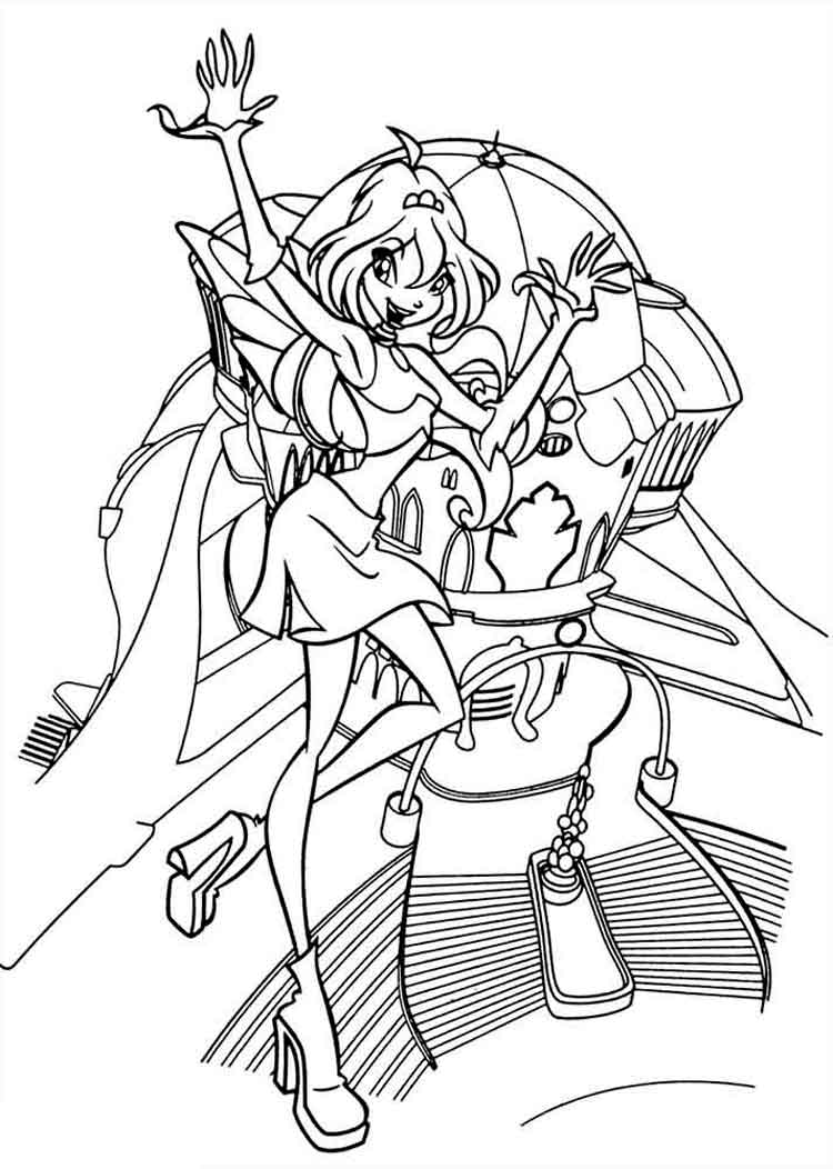 Bloom Winx Coloring Pages Download And Print Bloom Winx