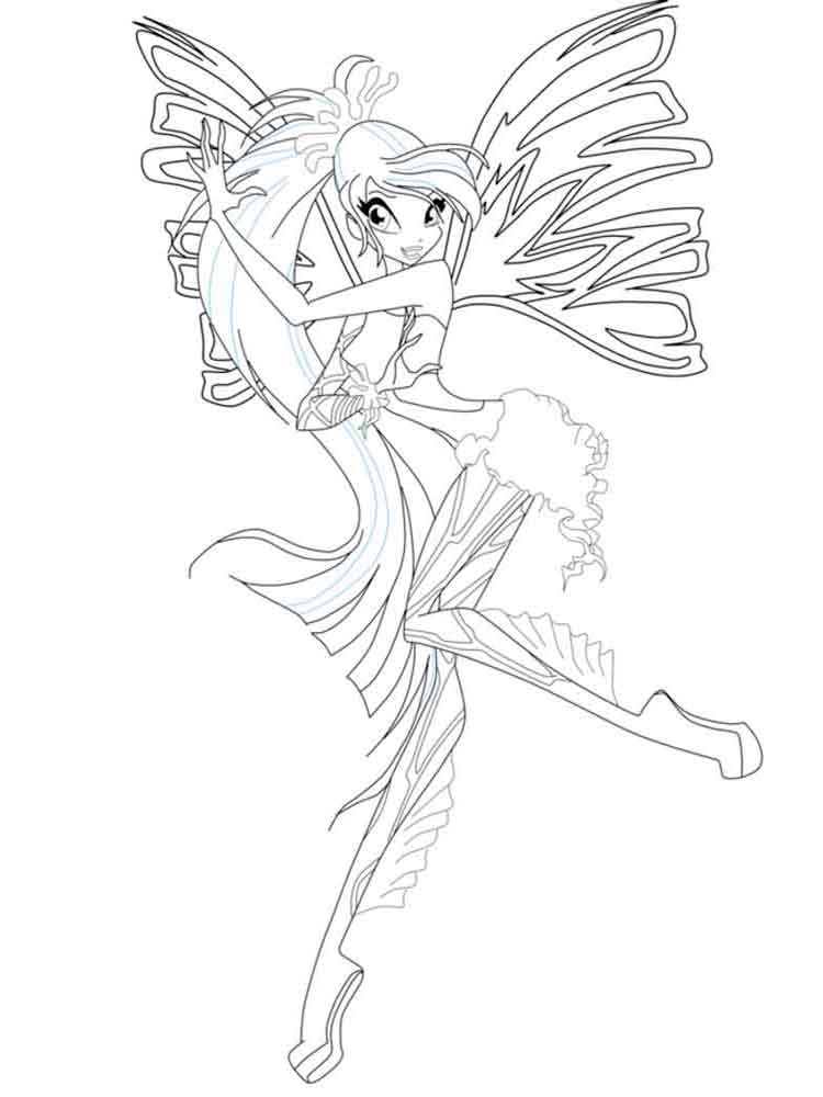 Bloom Winx coloring pages Download and print Bloom Winx coloring