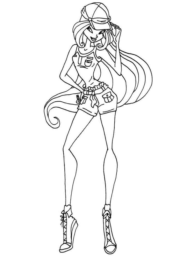 Flora Winx coloring pages. Download and print Flora Winx coloring pages.