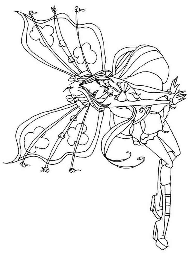 winx club flora coloring pages - photo#33