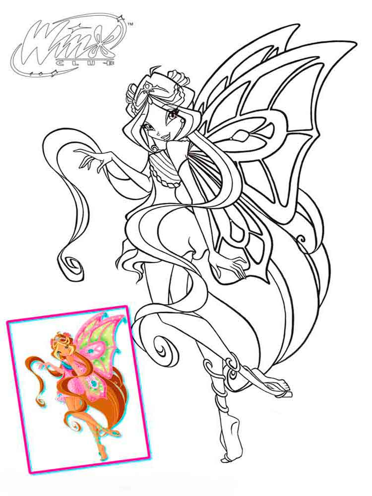 winx club flora coloring pages 22