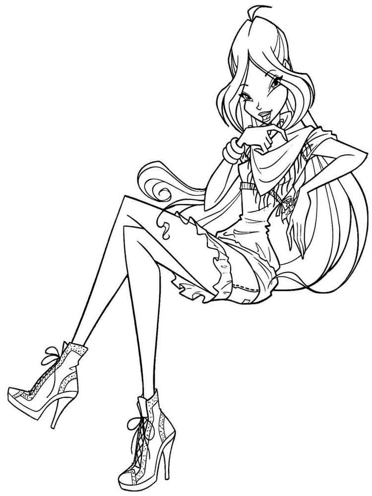 94 Winx Club Coloring Pages 20