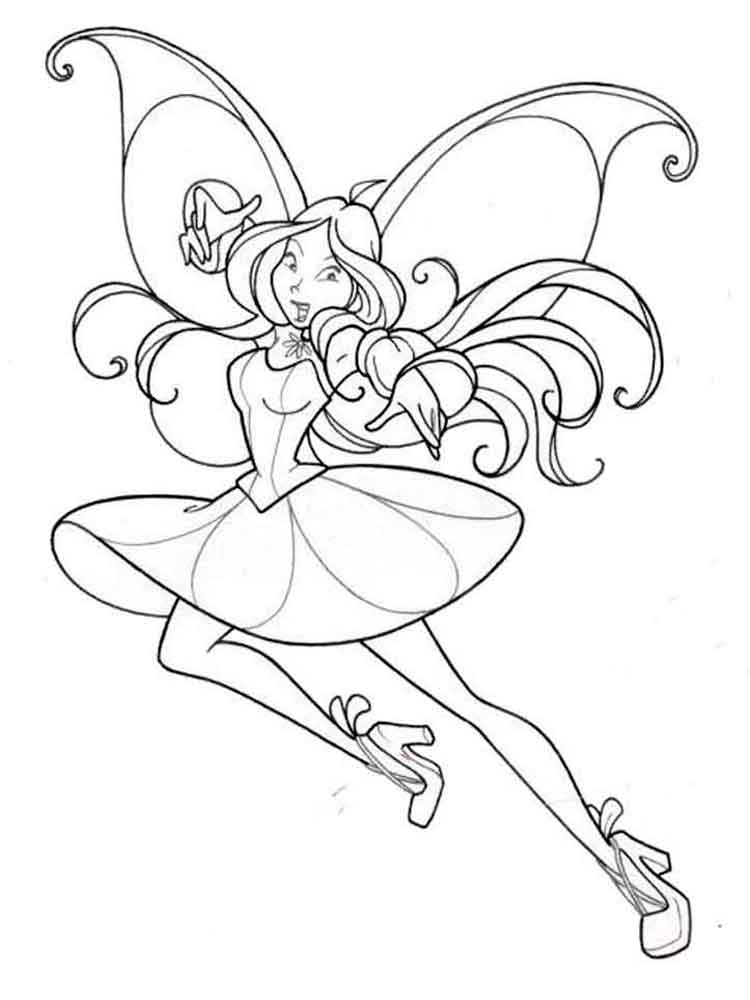 Flora Winx coloring pages Download