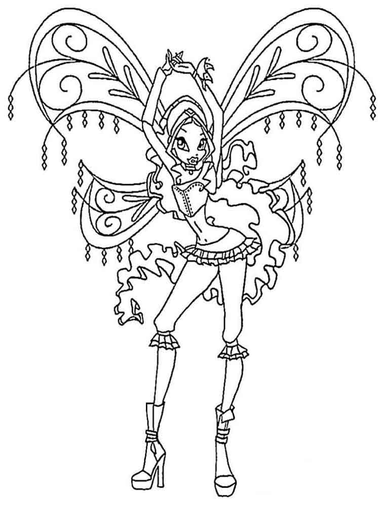 Layla Winx coloring pages. Download and print Layla Winx ...