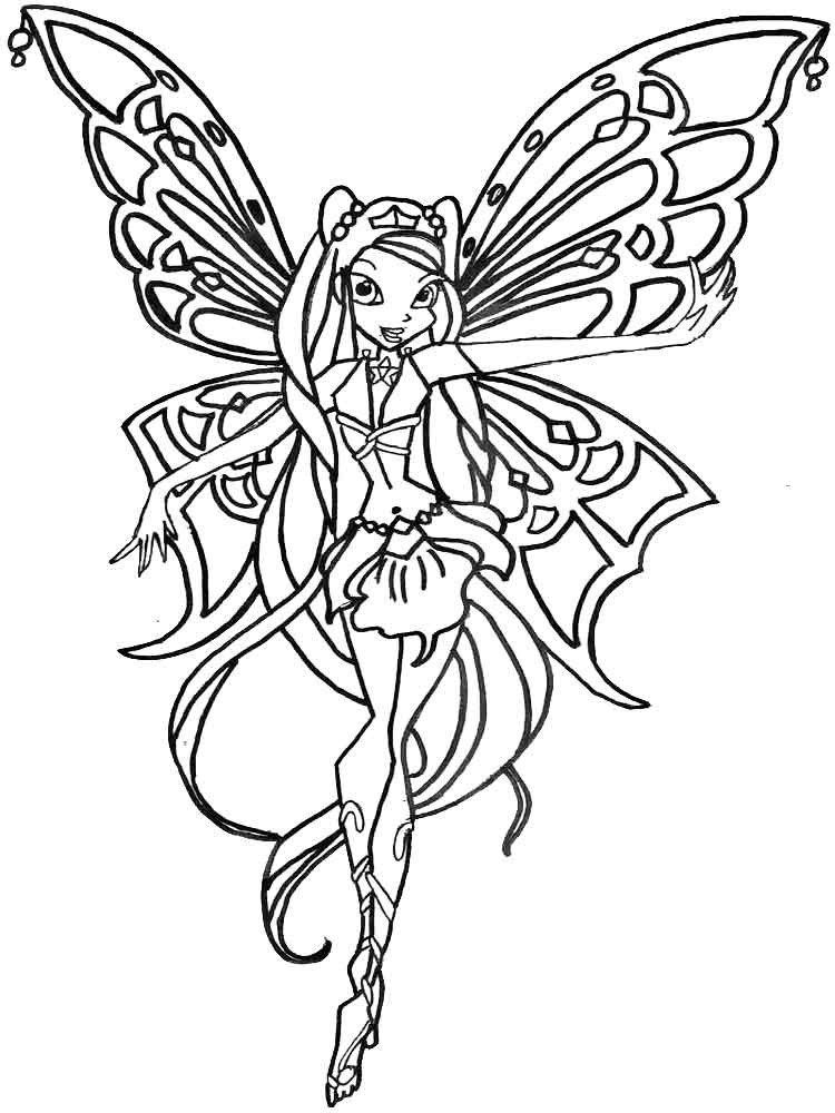 Layla Winx Coloring Pages Download And Print Layla Winx