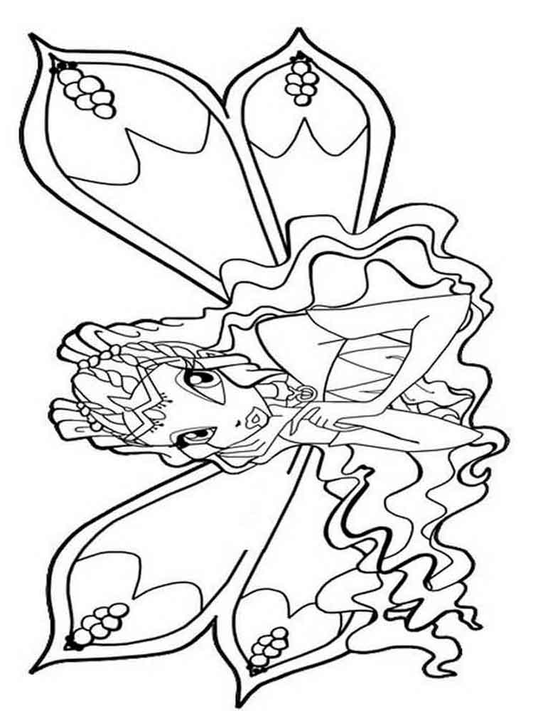 layla winx coloring pages - photo#35
