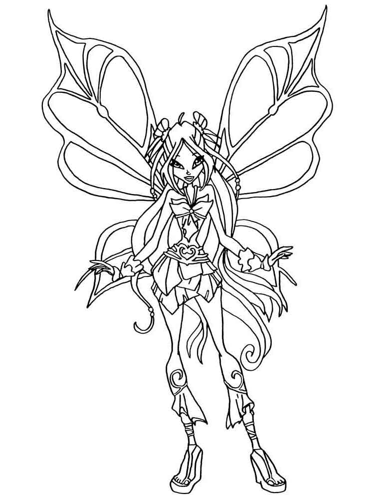 Layla Winx coloring pages Download