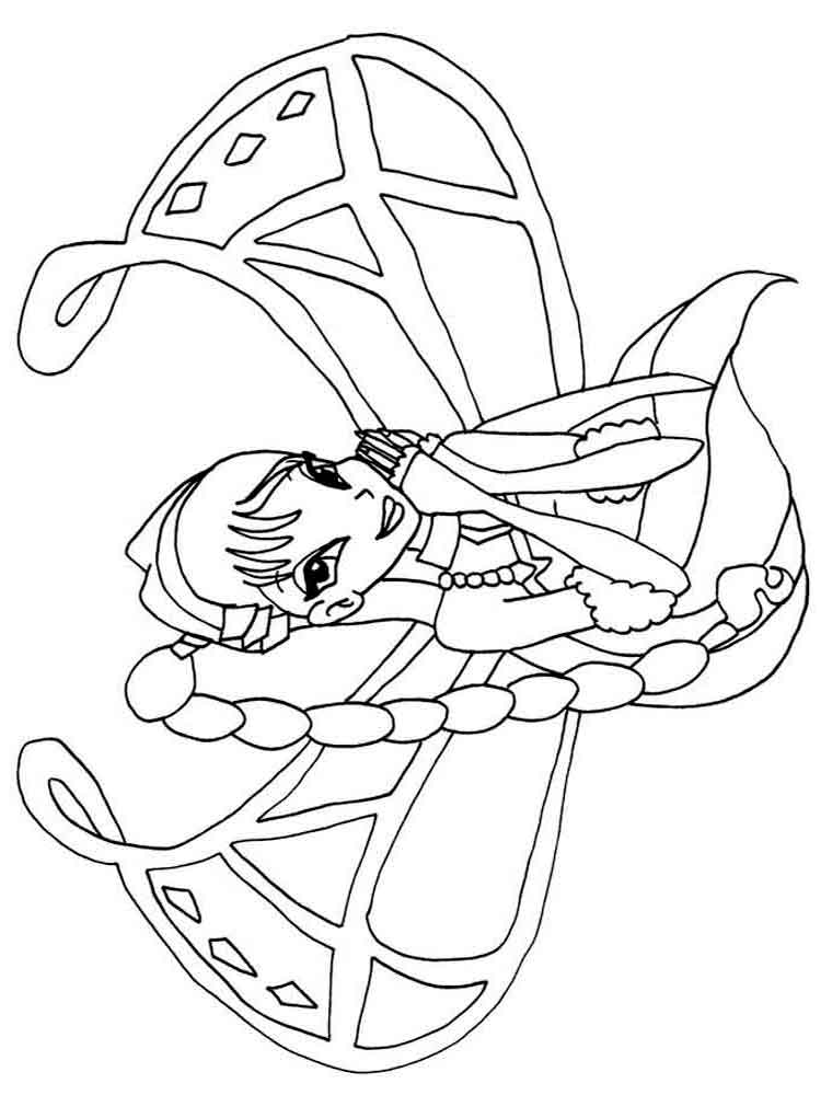 Musa Winx Coloring Pages Download And Print Musa Winx Coloring Pages