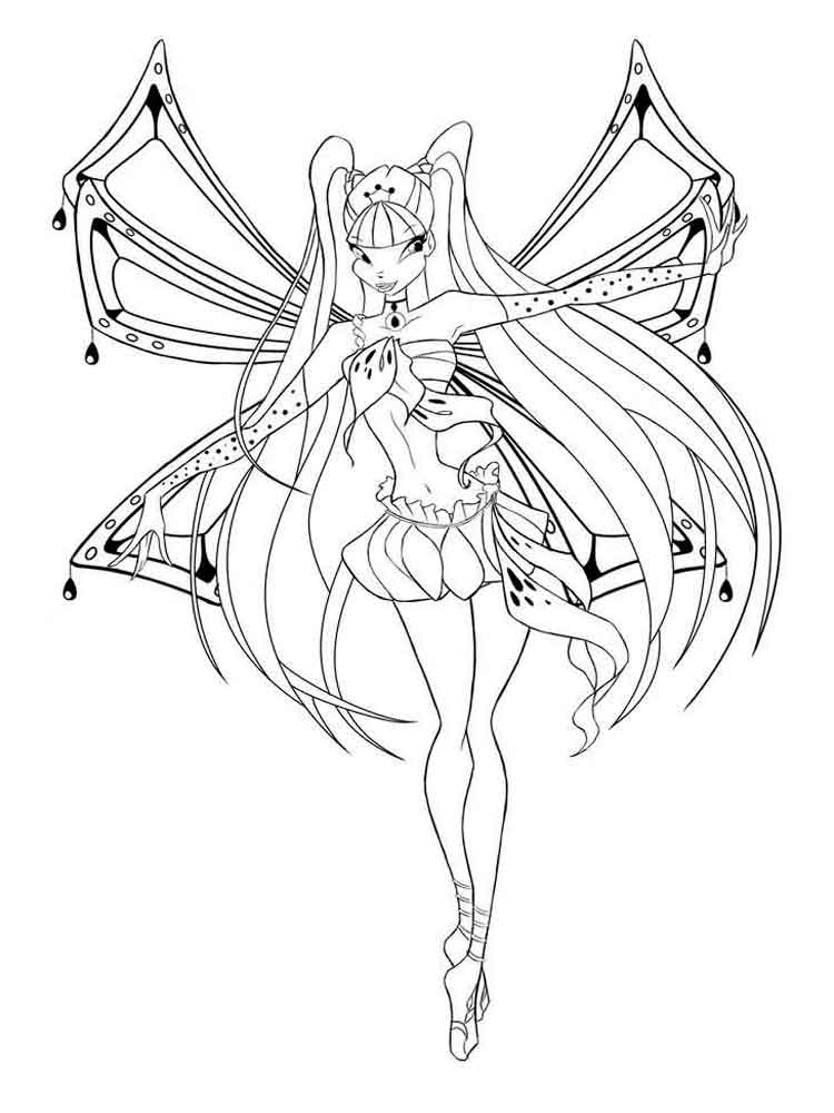 Winx Fairy Of Magic Musa Coloring Page | H & M Coloring Pages | 1000x750