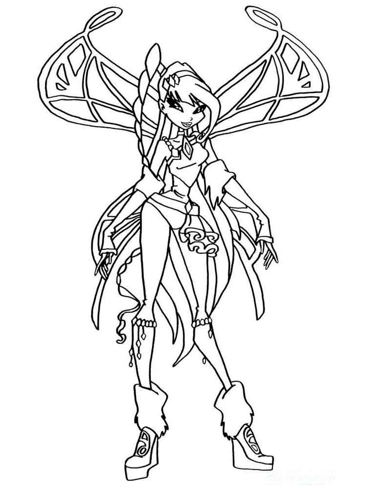 Musa Winx coloring pages Download and print Musa Winx