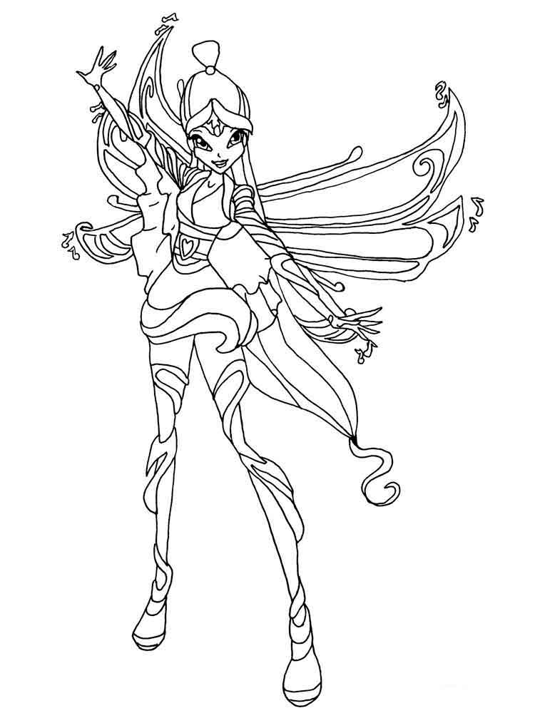 Musa Winx coloring pages. Download and print Musa Winx ...