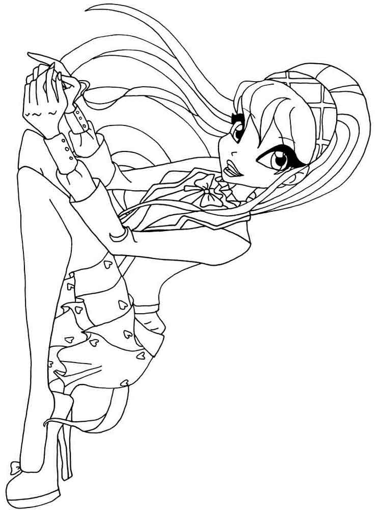 winx club christmas coloring pages | Stella Winx coloring pages. Download and print Stella Winx ...