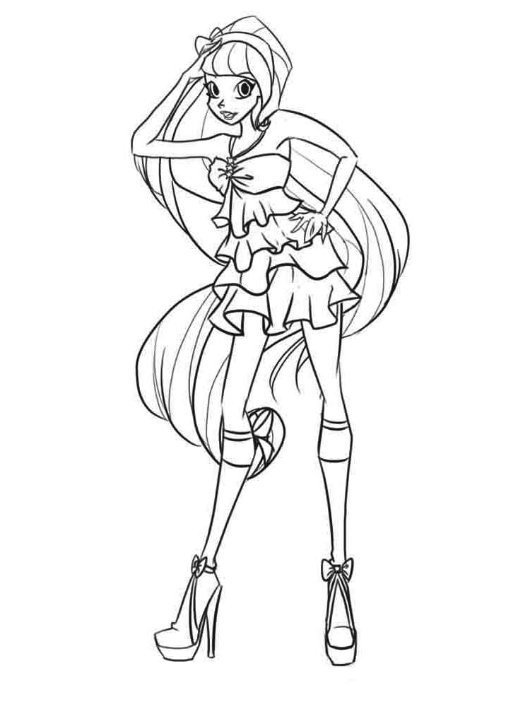 Stella Winx coloring pages. Download and print Stella Winx ...