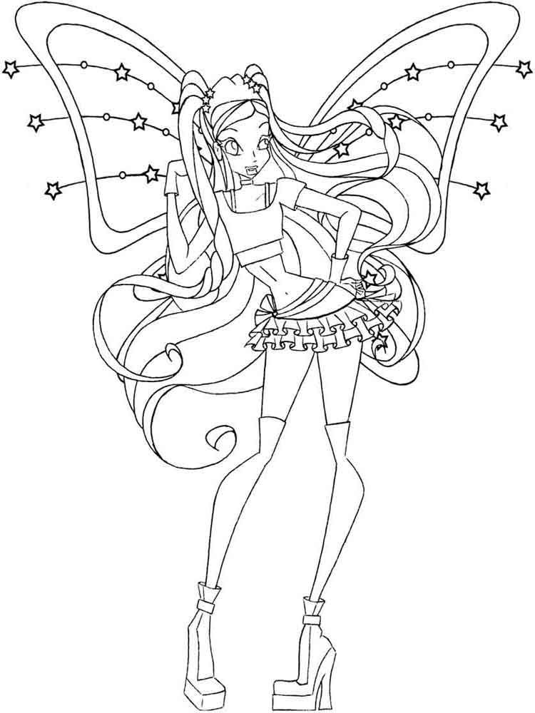 Stella Winx Coloring Pages Download And Print Stella Winx Coloring Pages