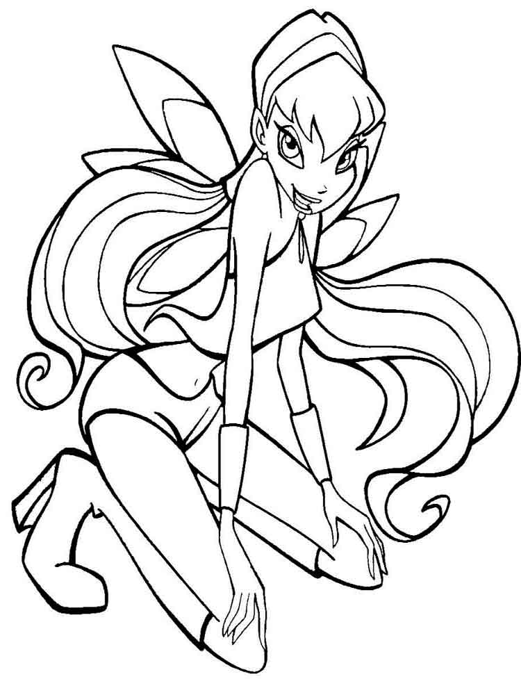 stella winx coloring pages and print stella winx