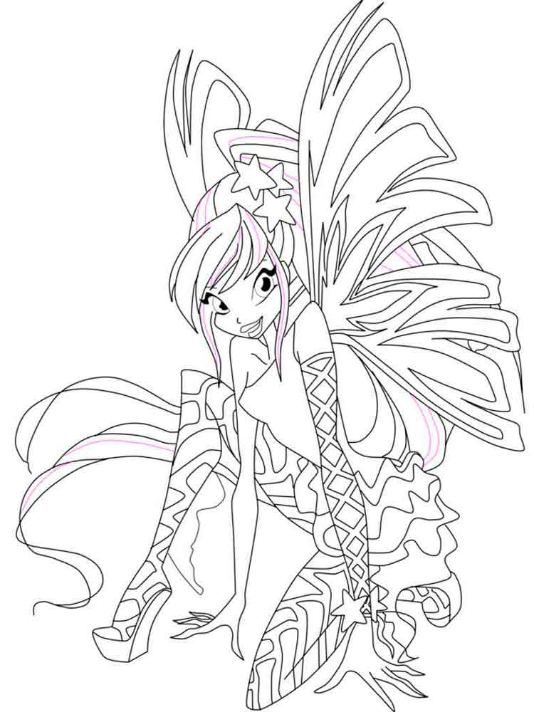 Stella Winx coloring pages Download