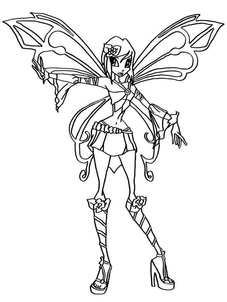 Tecna Winx Coloring Pages Download And Print Tecna Winx