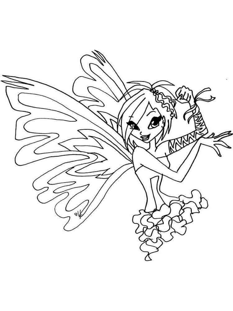 Tecna Winx coloring pages. Download and print Tecna Winx ...