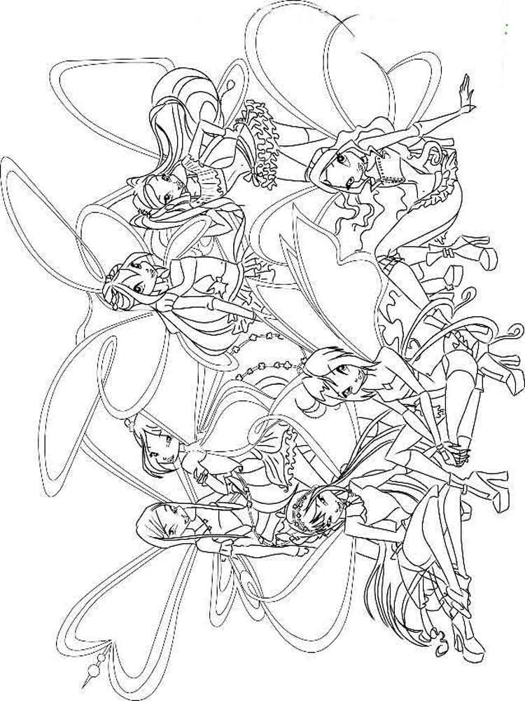 The winx club coloring pages ~ Winx club coloring pages. Download and print Winx club ...