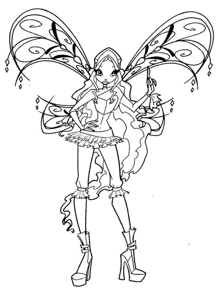 winx club christmas coloring pages | Winx club coloring pages. Download and print Winx club ...